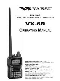 yaesu vx 6r operation manual battery electricity battery charger