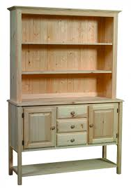 furniture solid pine buffet hutch with 3 drawers for kitchen