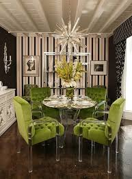Black And White Striped Dining Chair Using Black And White Stripes