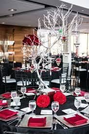 red black white wedding decoration ideas images of elegant black