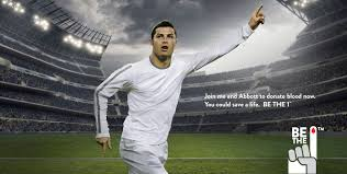 join cristiano ronaldo and donate blood today