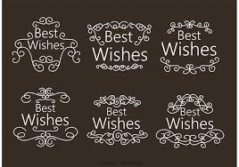 swirl best wishes ornament vectors free vector