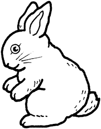 rabbit coloring free printable coloring pages