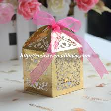 cheap personalized party favors 100pcs personalized gold wedding favor box wedding party favors