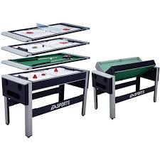 triumph 4 in 1 game table ea sports 54 inch 4 in 1 swivel combo table 4 games with table