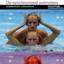 Synchronized Swimming Meme - de synchronized swimmers by ben meme center