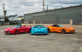 two corvettes widebody c7 corvette trio looks poisonously autoevolution