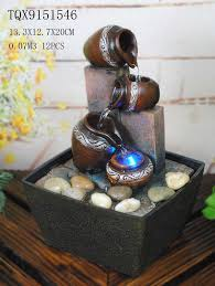 water fountain with lights small table water fountain for home decor tabletop waterfall