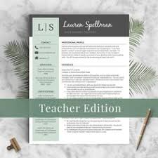 Sample Resume Of A Teacher by Teacher Resume Template For Ms Word 1 And 2 Page By Templatesnm