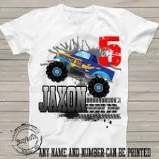 monster truck birthday shirt boys girls kids party