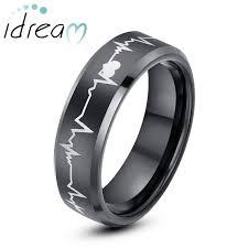 carbon wedding band black tungsten wedding bands beat of my heart tungsten carbide
