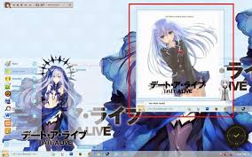 live themes windows 7 date a live tobiichi origami windows 7 theme by kurohtenshi