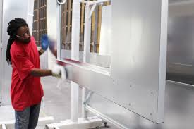 powder coating process on your spray booth in photos paint