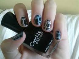 how to apply crackle nail polish quick and easy demo youtube