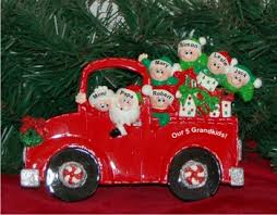grandparent christmas ornaments santa s engine tabletop our 5 grandkids with 2 grandparents