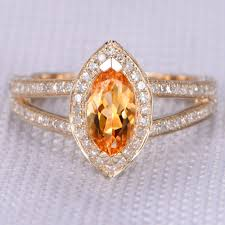 november birthstone topaz or citrine rings gold citrine ring solitaire engagement ring yellow citrine