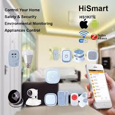 home automation h5 kit with ip security e27 lighting bulb