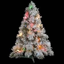 flocked tree 30 inch flocked mini tree multi colored lights c 91092