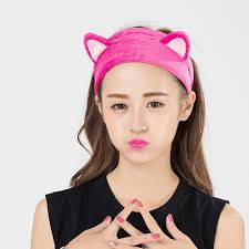 korean headband women korean style cat ears elastic wash headdress