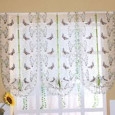 kitchen amazing butterfly kitchen curtains blue butterfly