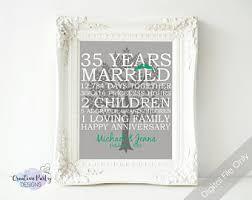 35 wedding anniversary gift 35th anniversary etsy