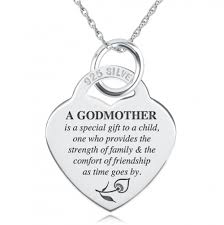 godmother necklace a godmothers necklace personalised sterling silver