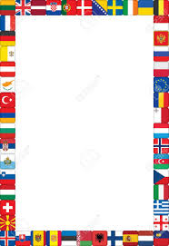 European Countries Flag Frame Made Of European Countries Flags Vector Illustration Royalty