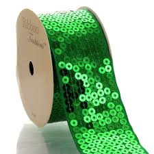 emerald green ribbon emerald green sequin grosgrain ribbon