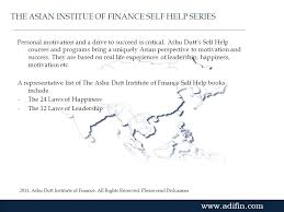 self help finance the ashu dutt institute of finance ppt