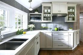 backsplash for kitchen with white cabinet creative amazing small white kitchen with island cabinets grey