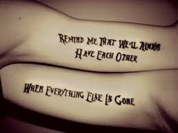 quotes for matching tattoos quotes everyday