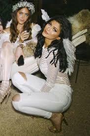Angel Costume Halloween Blouse Stripes Kylie Jenner Shirt Angel Wings