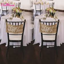 10pcs wedding chair sign 30 20cm mr u0026 mrs vintage burlap chair