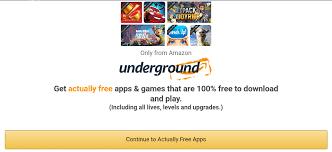 amazon underground actually free program shut down by amazon