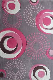 Bedroom With Area Rug 7 U0027ft X 11 U0027 Ft Grey Kids Bedroom Area Rug With Pink Circles