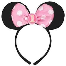 buy disney baby minnie mouse 1st birthday ears headband party hat