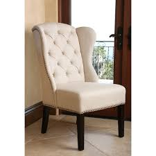 Wingback Dining Chairs Sale Abbyson Living Tufted Linen Wingback Dining Chair