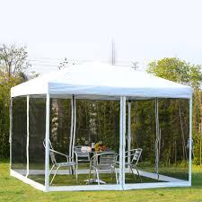 Patio Gazebo 10 X 12 by Outsunny 10x10ft Outdoor Patio Pop Up Party Tent Canopy Gazebo W