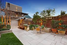 Backyard Garage Ideas Backyard Paver Ideas Patio Contemporary With Loft Above Garage