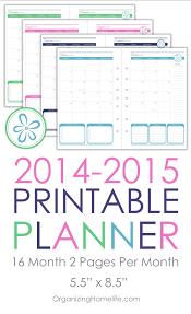 2014 2015 printable calendar planner size via organizing homelife