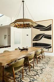 Raw Edge Table by Live Edge Dining Table On Faded Persian Carpet Remodelista