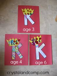crystalandcomp alphabet activities for preschoolers k is for king