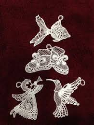 ornaments set of 4 fsl free standing lace ornaments
