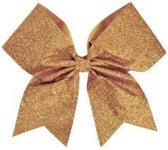 gold glitter ribbon chassé glitter performance hair bow omni cheer
