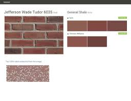 jefferson wade tudor 6035 red brick general shale behr