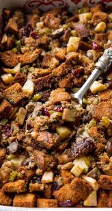 herbed sausage cranberry and apple sallys baking addiction
