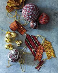 plaid ornaments martha stewart