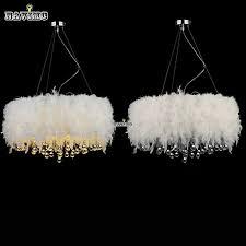 Chandelier Light For Girls Room Fluffy Feathers Crystal 3 Light Girls Room Pendant Chrome White