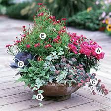 Flower Pot Arrangements For The Patio Container Plans U0026 Ideas