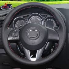 toyota corolla steering wheel cover aliexpress com buy xuji black leather stitched car steering